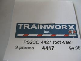 Trainworx Stock #4417 PS2CD 4427 Metal Roof Walk N-Scale image 2