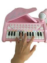 World Distribution Kids Grand Piano with Microphone Melody Musical Toy (Pink) image 5
