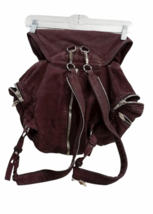 ALEXANDER WANG Marti Lambskin Leather Backpack Rare Burgundy Purse Bag image 7