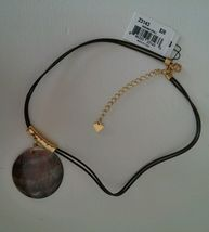 """Cookie Lee Genuine Shell Pendant Necklace Goldtone 18"""" NWT Plastic Double Cord  image 7"""