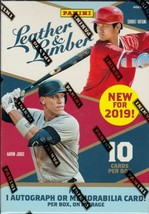 2019 Leather & Lumber Baseball Blaster Box Cards 1 Auo or Memorabilia Pa... - $23.95
