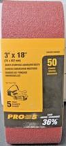 "Dewalt DWAB318050C 3"" x 18 Abrasive Sanding Belts 50 Grit 5 Pack - $4.46"