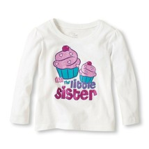 NEW NWT Girls 3T or 4T Little Sister Sis Top Shirt Cupcakes - $6.99