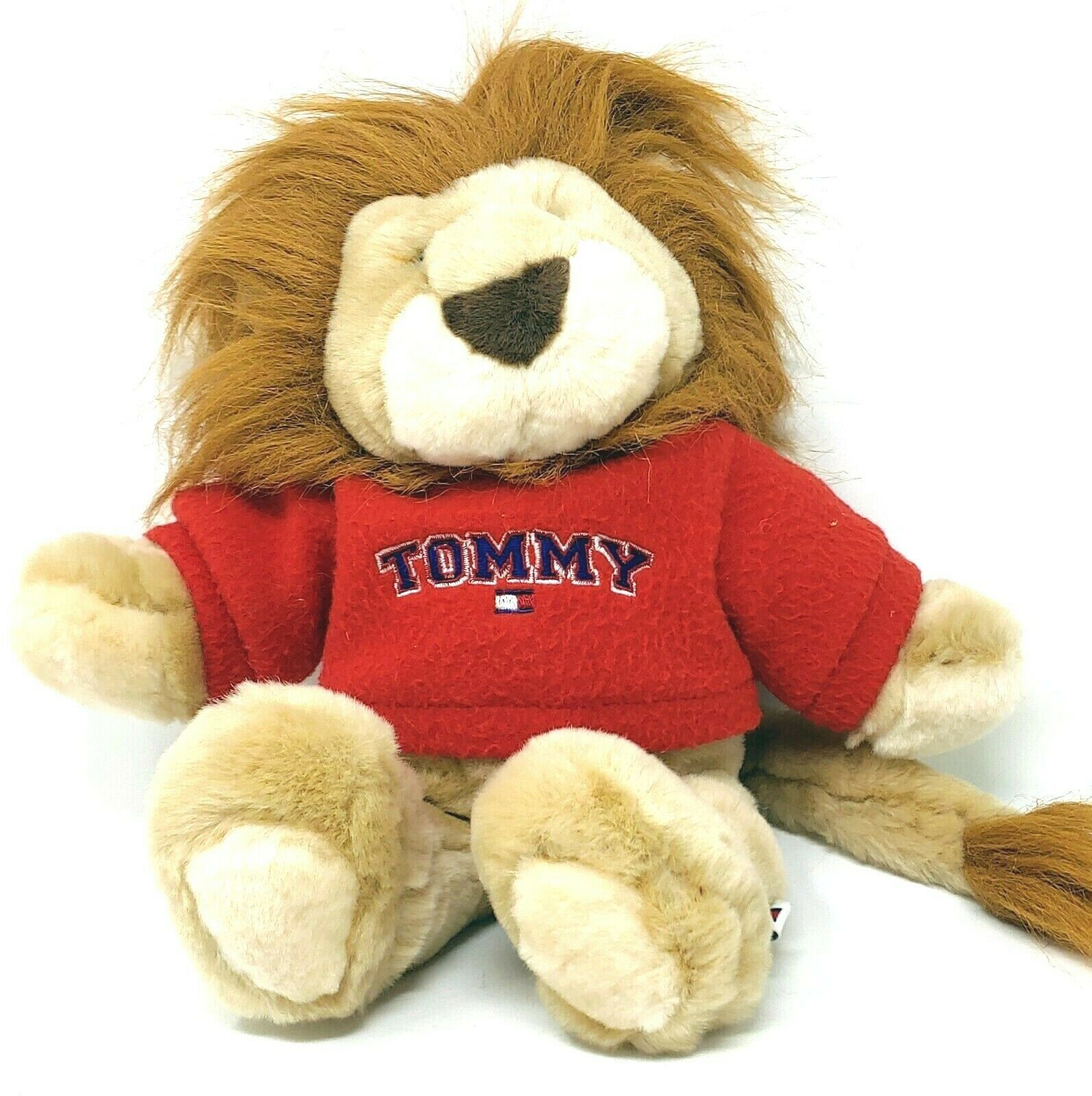 Tommy Hilfiger 11 Inch Plush Lion in Tommy Red Sweater by Commonwealth 2002 - $19.99