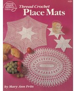Thread Crochet Place Mats, American School of Needlework Pattern Booklet... - $5.95