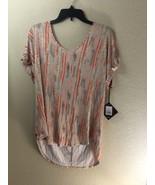 Ava & Viv Beige Coral Top T Shirt Blouse 1X 16W 18W - $19.46