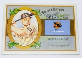 Mlb Matt Holiday Oklahoma Usa 2008 Topps Allen & Ginter Baseball #US36 Mnt - $1.16