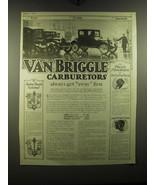 1920 Van Briggle Carburetors Ad - Van Briggle Carburetors always get awa... - $14.99