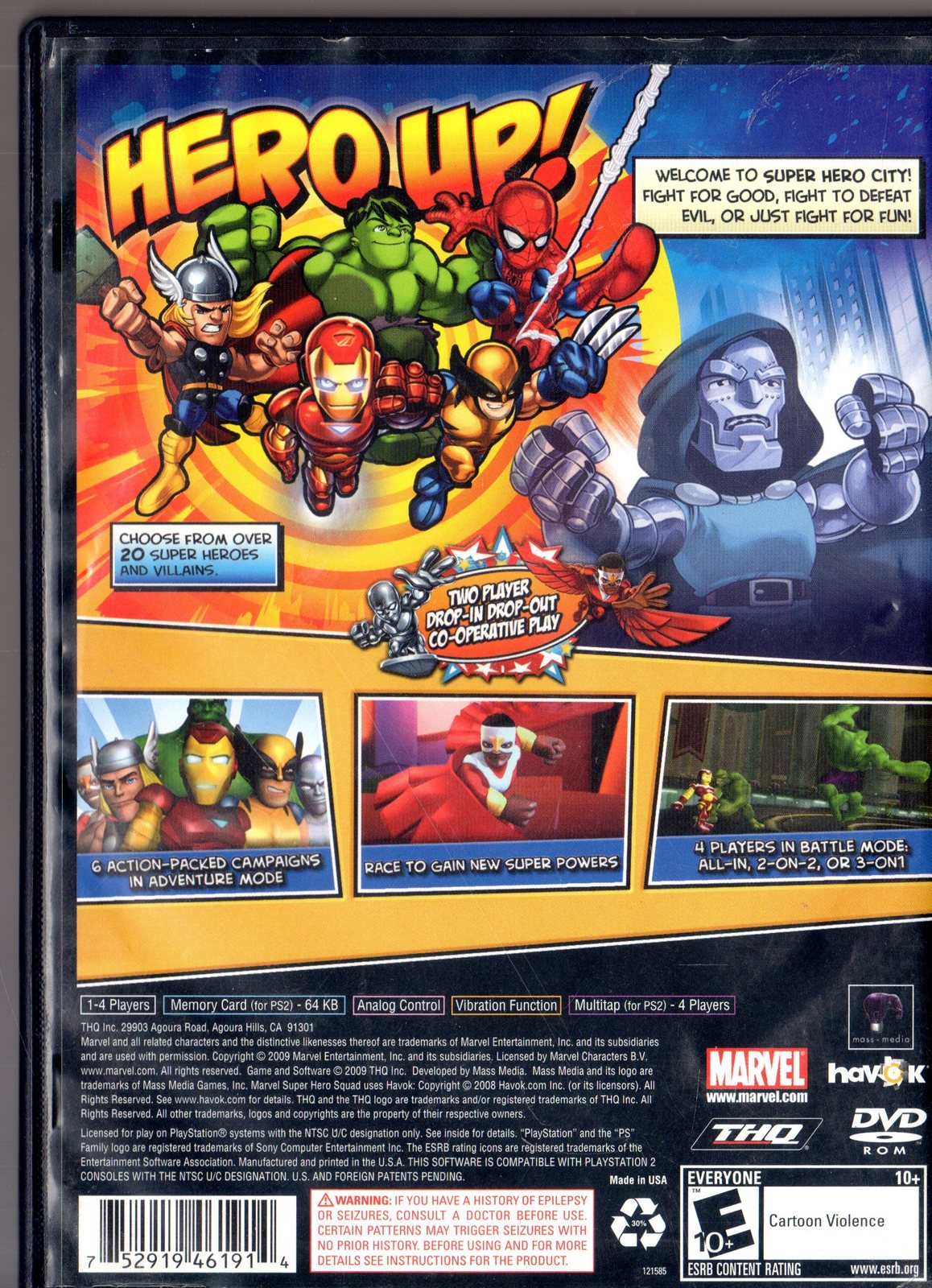 Marvel Super Hero Squad - Playstation 2 Game Complete