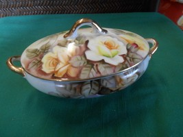 Great Collectible Old Japan COMPOTE Floral Design - $12.46