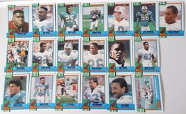 1990 Topps Miami Dolphins Team Set of 19 Football Cards - $3.99