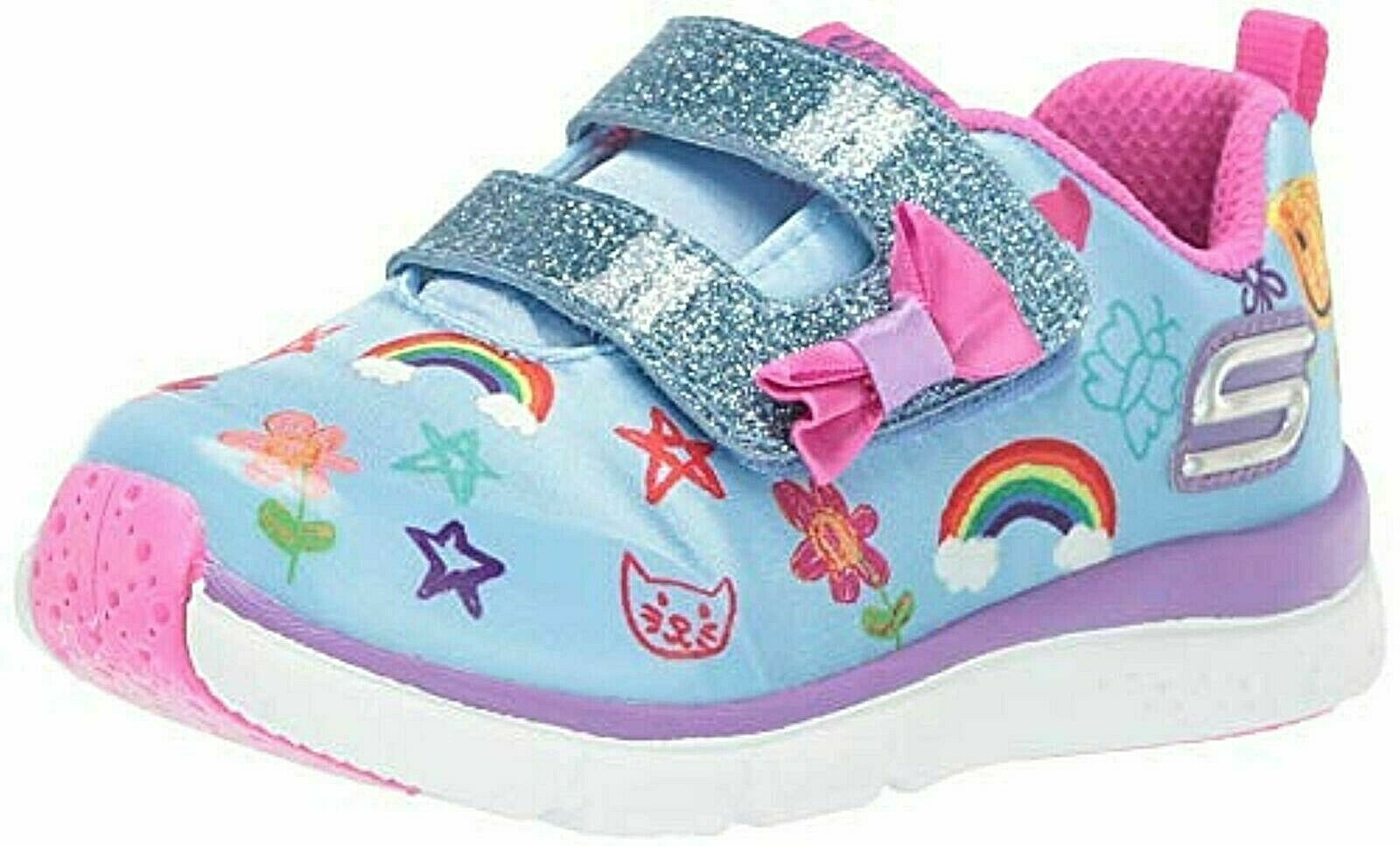 Primary image for Skechers Kids Girls' Jump Lites Sneaker, Blue/Multi, 7 Medium US Toddler
