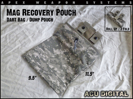 Custom NERF Gear - Mag Recovery Pouch / Dump Pouch / Dart Pouch - ACU Di... - $7.99