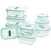 Assorted Glass Oven Safe Container Set Food Storage Set LeakProof 18 Pcs... - $68.03