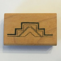 Comotion Rubber Stamp Aztec Myan Ruins Inca Temple Mexico History Card Making - $5.40