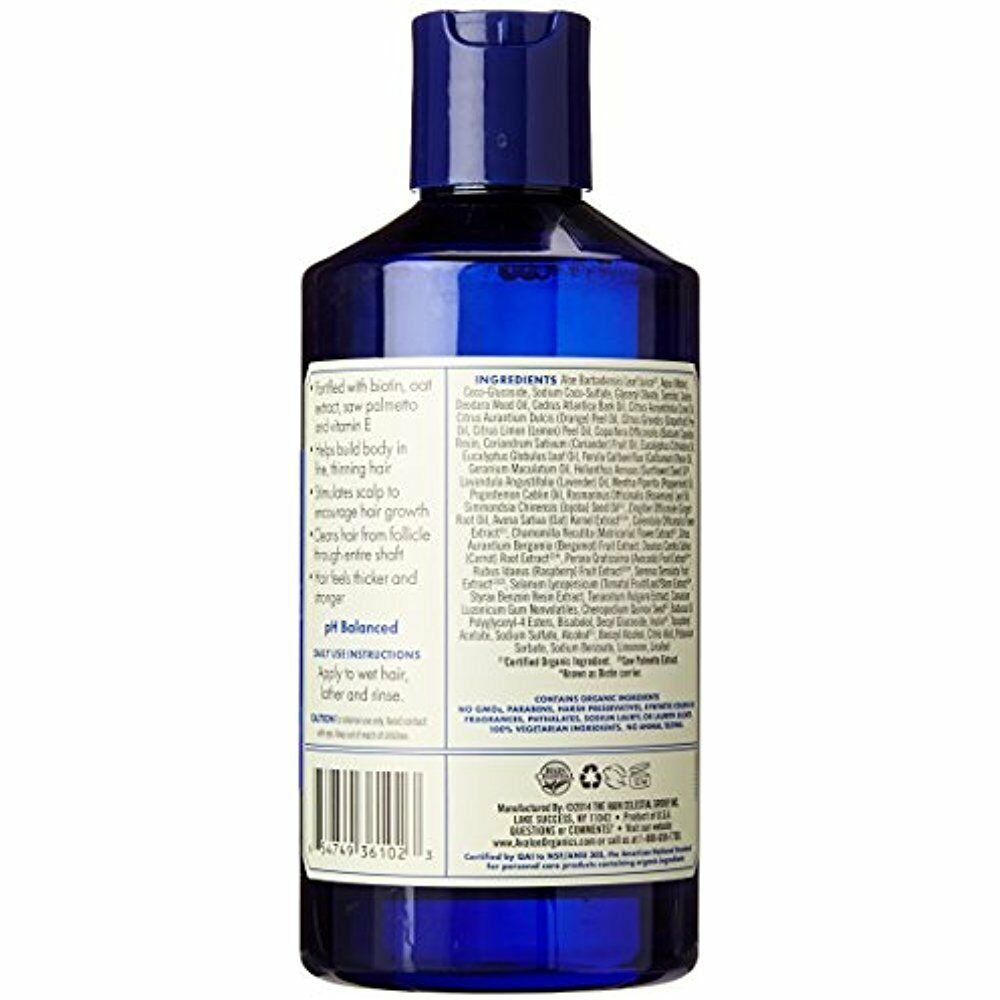 Avalon Organics Hair Thickening Shampoo Biotin B-Complex Scalp 14 Fluid Ounce