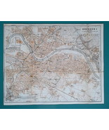 "1936 MAP - GERMANY German Reich Dresden Town City Plan 10 x 12.5"" 25 x 3... - $17.96"