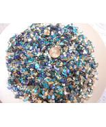 4oz MINI Mix Turquoise Blue Beige Crushed Seashells Crafts Shells Vase F... - $5.89