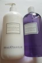 Set of Crabtree & Evelyn Savannah Gardens Lotion + Bath and Shower Gel 1... - $44.50