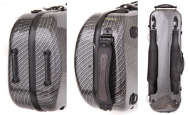 TONARELI Fiberglass Violin 4/4 OBLONG Hard Case - CHECKERED - NEW with s... - $265.00