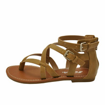 Soda PERFECT-S Mid Taupe Women's Strappy Criss Cross Gladiator Sandals - $28.95+