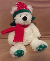 "TY CLASSIC white FARGO the Christmas Holiday TEDDY BEAR Plush 14"" 2006 - $13.09"