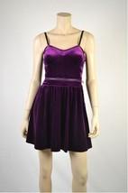 JESSICA SIMPSON  Purple Acai HAYDEN Velvet Corset Dress - Sz 12 - £33.86 GBP