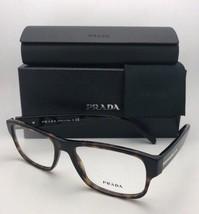 New PRADA Eyeglasses VPR 23R 2AU-1O1 54-17 145 Tortoise Havana Frames w/ Clear - $239.95