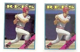 1988 Topps Ron Oester Cincinnati Red #17 Baseball Card lot of 2 VG - $0.04