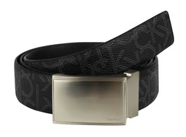 Calvin Klein Ck Men's Leather Reversible Buckle Belt 3 Piece Set Box Black 74360 image 2