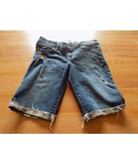 Girls Size 16 Abercrombie Kids Denim Blue Jean Shorts Bermuda Length Dis... - $16.00