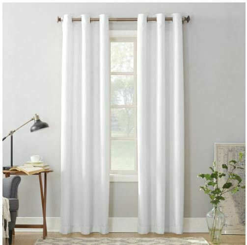 No. 918 Nathan Casual Textured Semi-Sheer Grommet Curtain Panel 48 in x 63 in