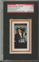 Chris Chelios 1989 Panini Stickers Autograph #379 SGC - $44.76