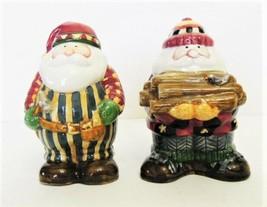 Debbie Mum Sakura Earthenware Woodland Santa Salt & Pepper Shakers image 2