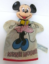 """MINNIE MOUSE HAND PUPPET Walt Disney Productions 10"""" Hand Crafted Vintage - $39.95"""