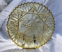 Vintage Federal Glass Pioneer Pattern Amber Sandwich Plate - $8.00