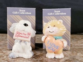 2 Avon Gift Collection Greeting Gang Cat I Love You Dog You're Special - $14.53