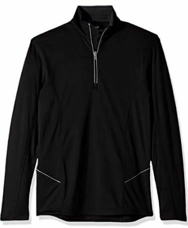 Clementine Men's Cool & Dry Sport 1/4-zip Pullover -BLACK-ULTC 8230-  3XL-