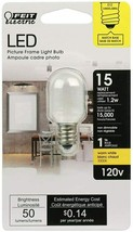 FEIT Electric BPT6/SU/LED Non-Dimmable Led Bulb, 1.2 W, 120 V, 50 Lumens, 3000K, - $7.92
