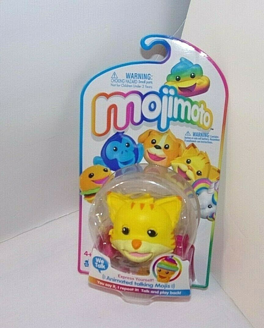 Kitty Cat SEALED Mojimoto Animated Talking Mojis Talk & Play Back Keychain Clip