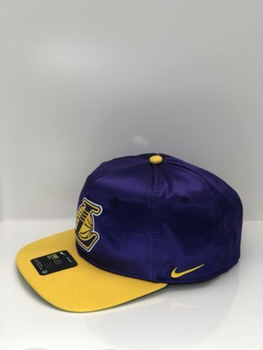 7049dee6ce3 Nike LA Lakers 878016-504 Field Purple Amarillo Unisex Adjustable NBA Hat   35