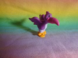 Miniature PVC Toy Bird Purple and Pink - $2.33