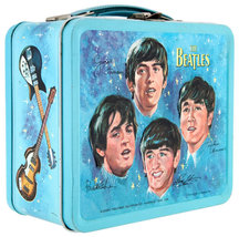 Beatles Metal Lunch Box w/ Thermos New Lunchbox NOS + Stereo & Mono Sets USB image 3