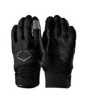 Evoshield Aggressor Sports Batting Gloves Pair Youth All Black Colorway ... - $29.21