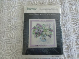 Benway LILACS in CLEAR PITCHER 14-Count Cross Stitch Kit #3358 - 227W x ... - $20.00