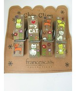 Natural Life Painted Cats Chip Bag  Love Flowers Francesca's Collections... - $14.95