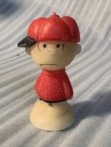 "Vintage Hallmark Peanuts Charlie Brown baseball player Candle 4.5"" Solid... - $19.99"