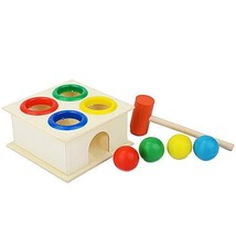M MOOHAM Hammering Wooden Ball - Wooden Fun Playing Hamster Game Toy Ham... - $26.85