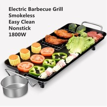 1800W Easy Clean Barbecue Grill Electric Griddle BBQ Garden Camping Kitc... - $116.38
