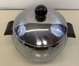 Vtg Penguin Hot & Cold Server Ice Bucket Bakelite Handles West Bend USA - $48.50
